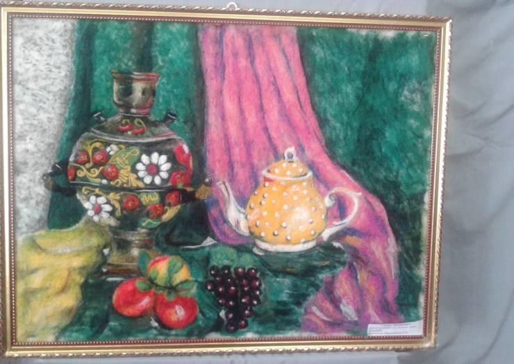 Выставка картин из войлока и шерсти